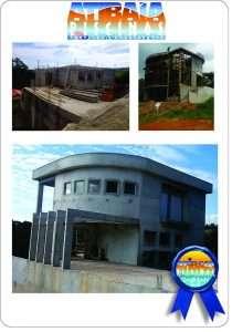 Serviço de construção de casas e prédios comerciais.