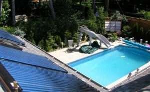 Sistema de aquecimento Solar para piscinas.
